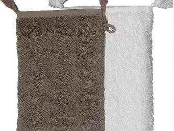 SIRETEX - SENSEI - gant de toilette pompon ajouré16x22cm sultan - Gant De Toilette