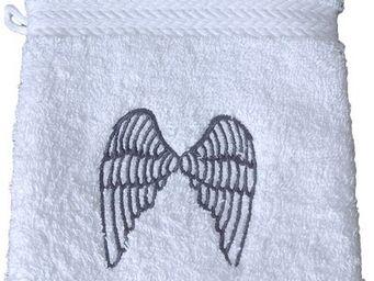 SIRETEX - SENSEI - gant eponge brodé angel coton - Gant De Toilette