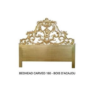 DECO PRIVE - tete de lit 160 cm en bois dore modele carved - T�te De Lit