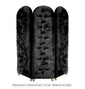 DECO PRIVE - paravent en velours noir - Paravent