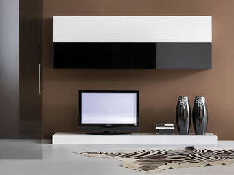 ACHATDESIGN - meuble tv mural tendance noir - Meuble De Salon Living