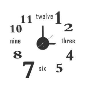 WHITE LABEL - horloge twelve � coller sur le mur - Pendule Murale