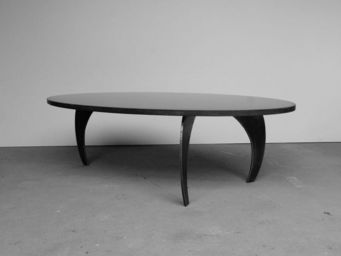 MALHERBE EDITION - table basse béton l'ellipse e² - Table Basse Forme Originale