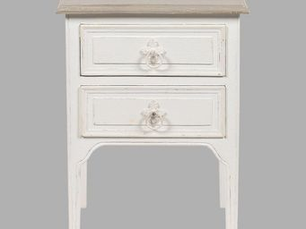 BLANC D'IVOIRE - charlie blanc antique - Table De Chevet
