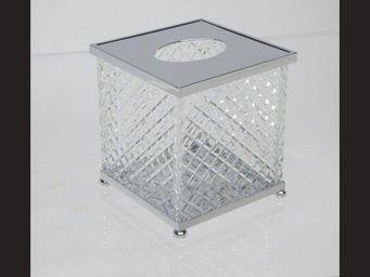 Cristal Et Bronze - cristal taille  d - Boite À Mouchoirs