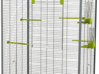ZOLUX - voli�re carla verte et grise 65x54x150cm - Cage � Oiseaux