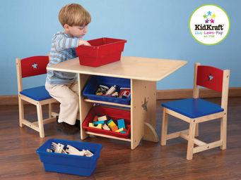 KidKraft - salon pour enfant table et chaise etoiles en bois - Table De Jeux Pour Enfant