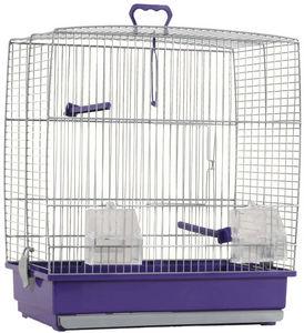 ZOLUX - cage oiseaux charlotte violette 39x25.5x45cm - Cage � Oiseaux