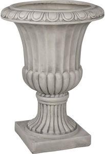 Aubry-Gaspard - vase antique en fibre de verre blanc 50x50x67cm - Vase Medicis