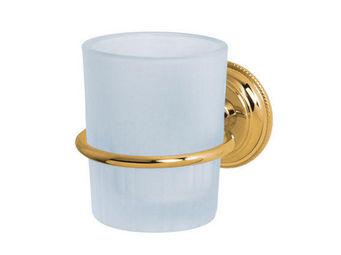 Cristal Et Bronze - perlé - Porte Verre À Dent