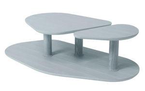 MARCEL BY - table basse rounded en chêne gris agathe 119x61x35 - Table Basse Forme Originale