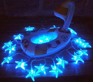 FEERIE SOLAIRE - guirlande solaire etoiles de mer 20 leds blanches  - Guirlande Lumineuse