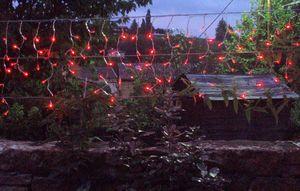 FEERIE SOLAIRE - guirlande solaire rideau 80 leds rouges 3m80 - Guirlande Lumineuse