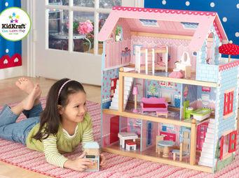 KidKraft - maison de poup�es chelsea en bois 62x33x71cm - Maison De Poup�e