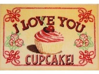 ILIAS - tapis de cuisine i love you cupcake - Tapis D'évier
