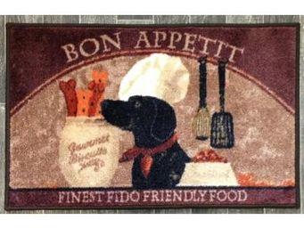 ILIAS - tapis de cuisine chien bon app�tit 50 x 80 cm - Tapis D'�vier
