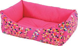 ZOLUX - sofa graffiti rose en tissu et ouate 47x38x19cm - Panier À Chien