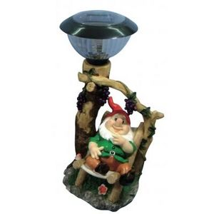 CODEVENT - statuette nain de jardin lampe solaire veste verte - Nain De Jardin