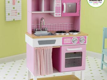KidKraft - cuisine rose pour enfant en bois 61x34x98cm - Jouets De Poup�e