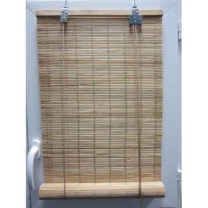 Luance - store enrouleur lattes bambou naturel 60x180 cm - Store Enrouleur