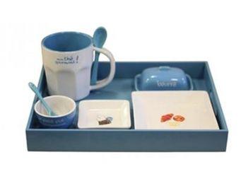 Cm - plateau petit d�jeuner - couleur - bleu - Service Petit D�jeuner