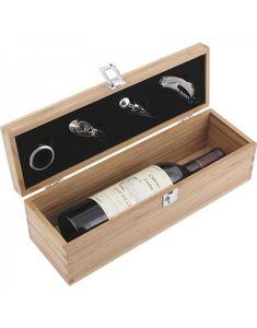 Aubry-Gaspard - coffret + 4 accessoires + 1 bouteille de grand vin - Coffret Oenologique
