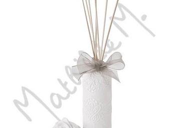 Mathilde M - diffuseur de parfum d'ambiance en plâtre tiges de - Diffuseur De Parfum Par Capillarité