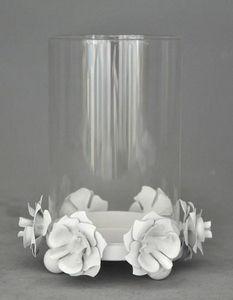 Demeure et Jardin - photophore blanc à poser - Photophore