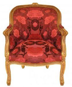 Demeure et Jardin - fauteuil bergère velours - Bergère