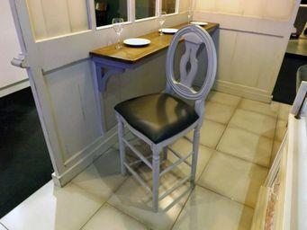 PROVENCE ET FILS - chaise haute cotton plan 90 palmette / assise reco - Chaise Haute De Bar