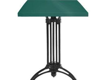 Ardamez - table de repas émaillée vert / fonte - Table De Repas Carrée