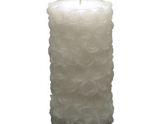 Interior's - bougie roses blanches - Bougie Ronde