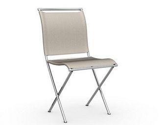 Calligaris - chaise pliante design air folding en tissu couleur - Chaise Pliante