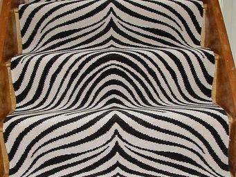 Moquettes A3C CARPETS - tapis pour escaliers zebre seventies dessin 1230 - Tapis D'escalier