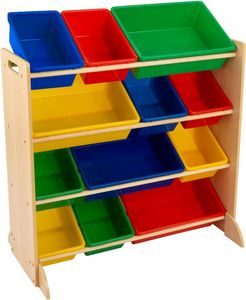 KidKraft - meuble de rangement en bois 12 bacs pour enfant - Meuble De Rangement Bas Enfant