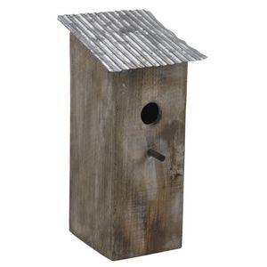 Aubry-Gaspard - nichoir oiseau toit zinc - Maison D'oiseau