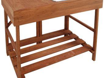Esschert Design - table à rempoter en bois feuillus - Table De Rempotage