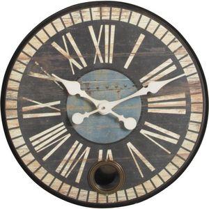 Aubry-Gaspard - horloge rétro avec balancier - Horloge Murale