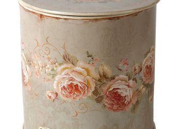 Antic Line Creations - poubelle salle de bain roses - Poubelle De Salle De Bains