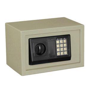WHITE LABEL - mini coffre-fort acier avec serrure code - Coffre Fort � Poser