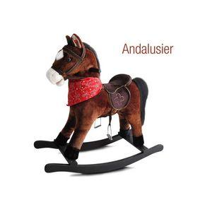 WHITE LABEL - cheval à bascule jouet enfant bébé - Cheval À Bascule