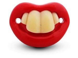 WHITE LABEL - sucette et drôle tétine avec 4 dents en silicone h - Tétine