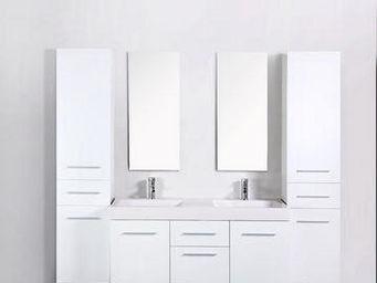 UsiRama.com - meuble salle de bain 2 vasques think - Meuble Double Vasque