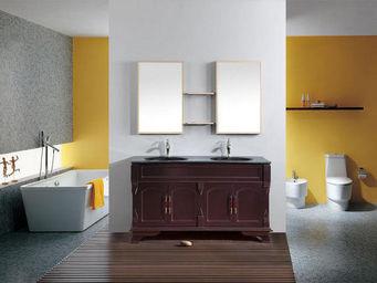 UsiRama.com - meuble salle de bain 2 vasques le roi du chocolat - Meuble Double Vasque