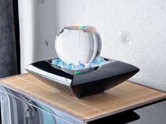 ZEN LIGHT - fontaine tourbillon noire ishitaru - Fontaine D'intérieur