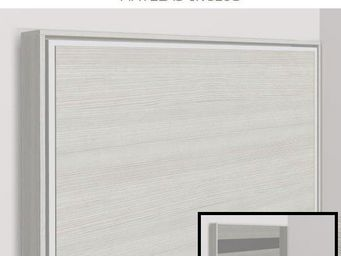 WHITE LABEL - armoire lit escamotable athena, ch�ne blanc. matel - Armoire Lit