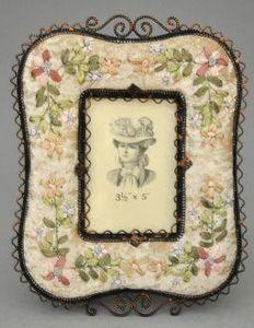 Demeure et Jardin - cadre rectangulaire à fleurs - Cadre