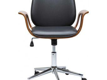 Kare - chaise de bureau patron noyer - Chaise De Bureau