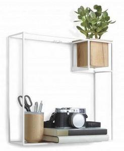 Umbra - etagère design en métal blanc cubist grand modèle - Etagère Murale Simple