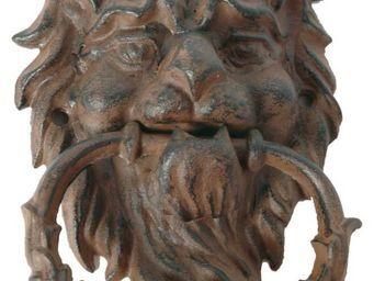 Antic Line Creations - heurtoir lion antique en fonte - Cloche D'extérieur